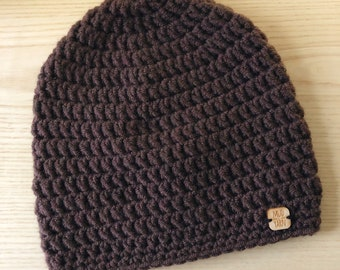 CLEARANCE Coffee Fitted Beanie