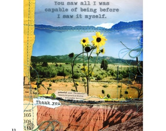 """Mixed media collage print """"Capable"""""""