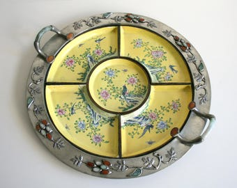 Antique Chinese Cloisonne Tray