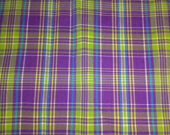 Purple Yellow and Green Flannel