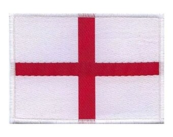 St George Cross British Flag Patch Travel Country England Woven Sew On Applique