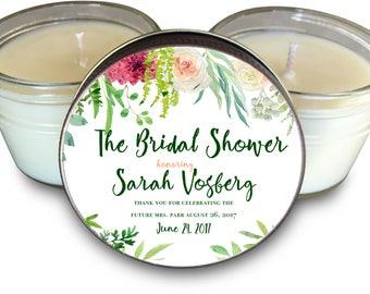 Set of (6) Bridal Shower Candle // Bridal Shower Favors // Bridal Shower Favor // Bride Tribe // Bridal Party Gift The Vine Theme