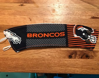 Broncos coffee cozy // Coffee Cozy // Broncos // Reusable Coffee Cozy //