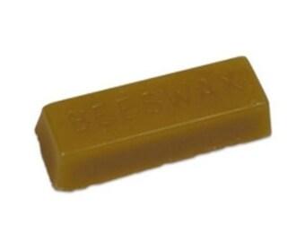 Organic Beeswax, pure and natural 1 ounce block ( 1 OZ ) 100% Bees Wax