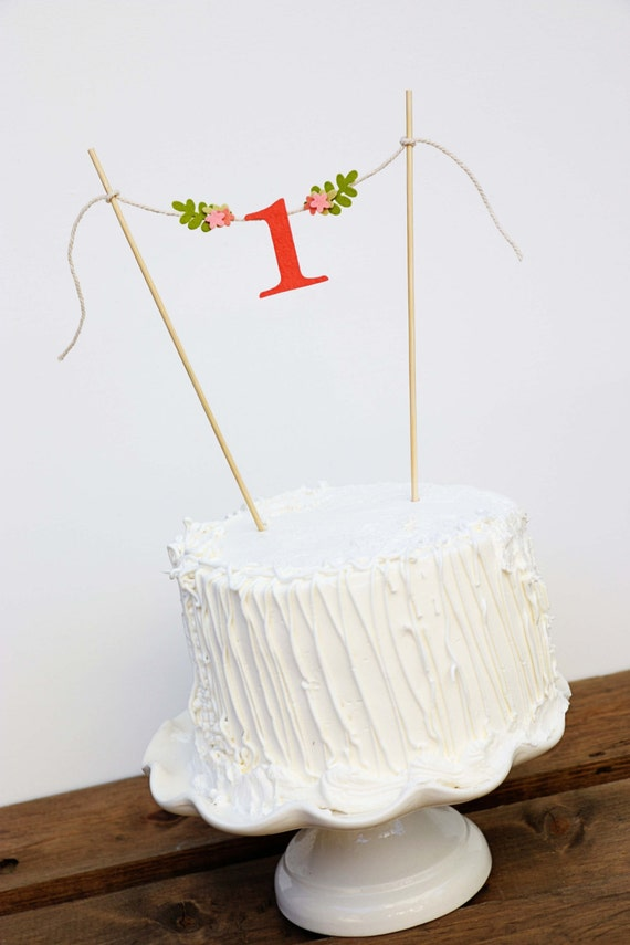 First Birthday Cake Banner One Cake Banner Birthday Cake