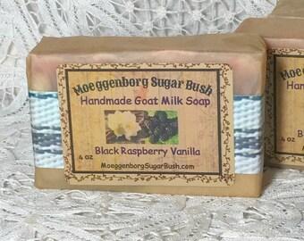 Goat Milk Soap, Black Raspberry Vanilla, Cold Process,  Handmade, Mother's day, teacher gift, gift for her, Moeggenborg Sugar Bush