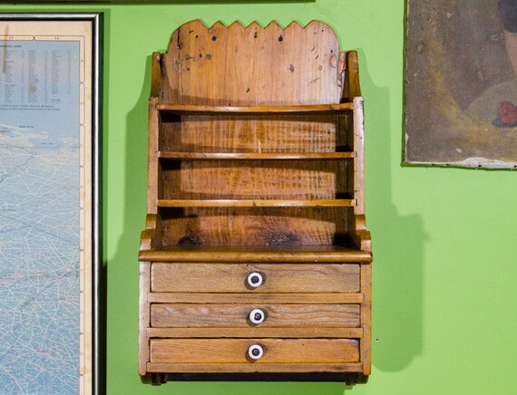 - Antique Dental Cabinet Apothecary Shelf With Drawers Dentist