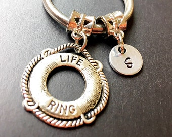 Life Saver Charm Keychain. Nautical charm keychain. Life Ring Life Preserver Charm. Friendship Keychain. Gift For friend.