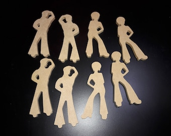 People Shapes Wood Craft Cutouts - Men and Women
