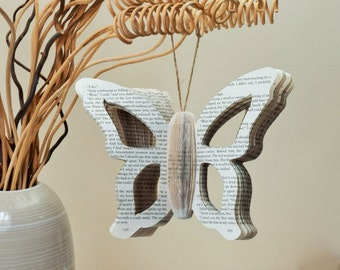 Book Art Butterfly unusual unique handmade from a book, insect pretty wings butterflies catapillar