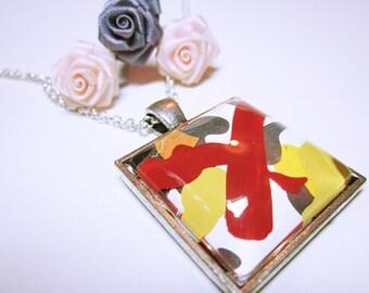 PENDANT Abstract Art Pendant Original Design Gift Idea For Her Fashion Pendant NECKLACE JEWELRY