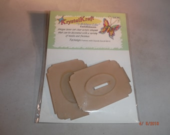 Krystal Kraft Acrylic Small Frames 2 pack-- KCDestash