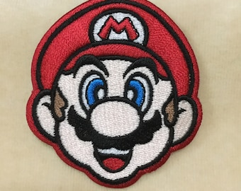Super Mario Head Iron On Patch