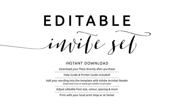 invitation template download free