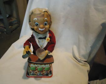 Vintage Charlie Weaver Bartender Battery Operated Toy, Not Working , collectable