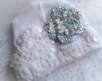 Newborn Baby girls Rhinestone lace Hospital Hat Beanie