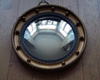 Vintage Mid Century Convex Porthole Mirror 1950's