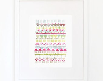 Rhythmic No. 4 - Watercolor Art Print