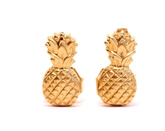 Pineapple - pineapple stud earrings - fruit earrings - pineapple studs - pineapples