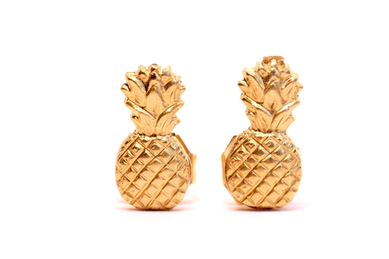 gold boho addie stud pineapple hello boutique layering earrings products necklace