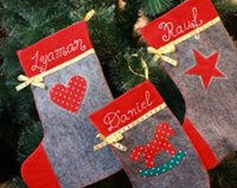 the cristmas stocking, New Year's boot, cristmas decor, cristmas gift,personal gift with name
