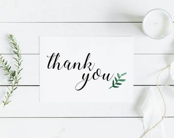 10 Pack Custom Thank You Cards