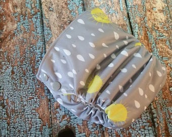 Organic Side Snap All in One Cloth Diaper Hello Sunshine AIO PUL Sized