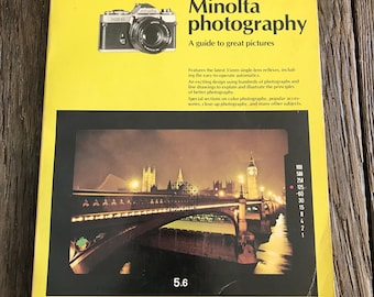 Vintage Photography Book - Minolta Photography Book - Barbara London A Short Course In Minolta Photography Book - Minolta Camera Book