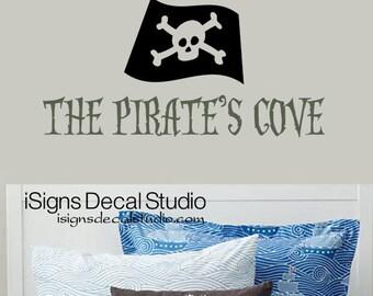 Pirate Decal - The Pirates Cove Decal - Kids Boys Pirate Decal - Pirate Sticker