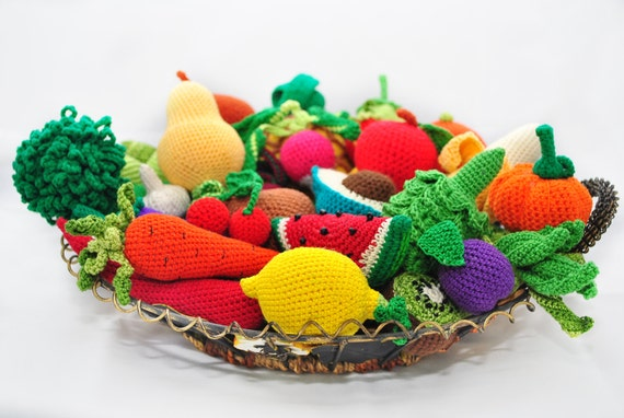 Amigurumi Crochet Books : Amigurumi pattern. 35 crochet play food patterns. crochet pattern