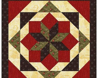 Light weight, easy to install Mountain Star Barn Quilt with Free Shipping, 2'x2', 3'x3', 4'x4'      Ships in about one week.