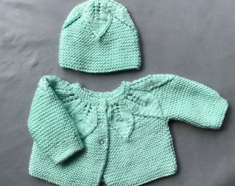 Baby-Soft Green Leaf Sweater