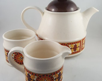 MId Century Sadler TeaPot and Cream and Sugar Set