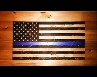 Custom Wood charred flags!