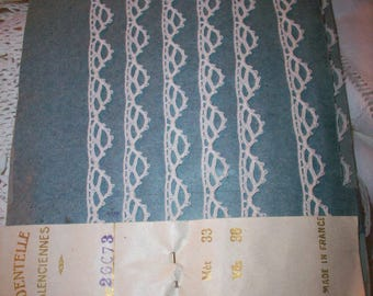 Antique lace french origin 1910 pure cotton  vintage supplies tatting look
