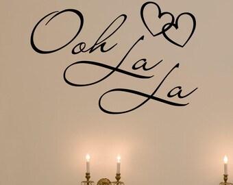 Ooh La La French Fancy hearts vinyl wall decal