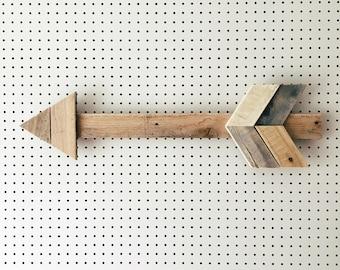 The Original Reclaimed Wood Wall Arrow | Made in KC MO USA | Arrow