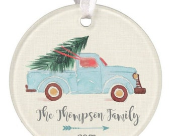 Personalized Christmas Ornament Truck Ornament Christmas Truck Ornament Ryelle Wedding Ornament Chistmas Ornament Truck Ornament Baby