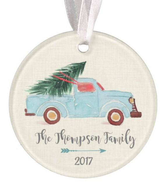 Baptism Ornament Christmas Ornament By Ryellecreations On Etsy: Personalized Christmas Ornament Truck Ornament Christmas Truck