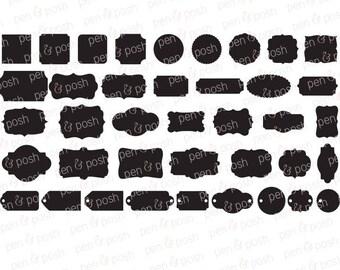 Labels SVG - Labels Cut Files - Tags SVG - Printable Pantry Labels - Digital Frames Clipart - Kitchen Labels - Clipart Labels