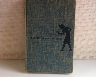 The Secret At Shadow Ranch - Nancy Drew Mystery Stories - by Carolyn Keene - Copyright 1931 - Hardback Book - Great Condition