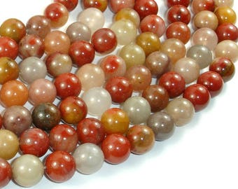 Jade Beads, 10mm(10.5mm) Round Beads, 15 Inch, Full strand, Approx 37 beads, Hole 1mm, A quality (287054039)