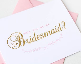 Will You Be My Bridesmaid Proposal Card | Will You Be My Maid of Honor Card | Bridesmaid Invitation | Bridal Party Card | Style #LGW2161