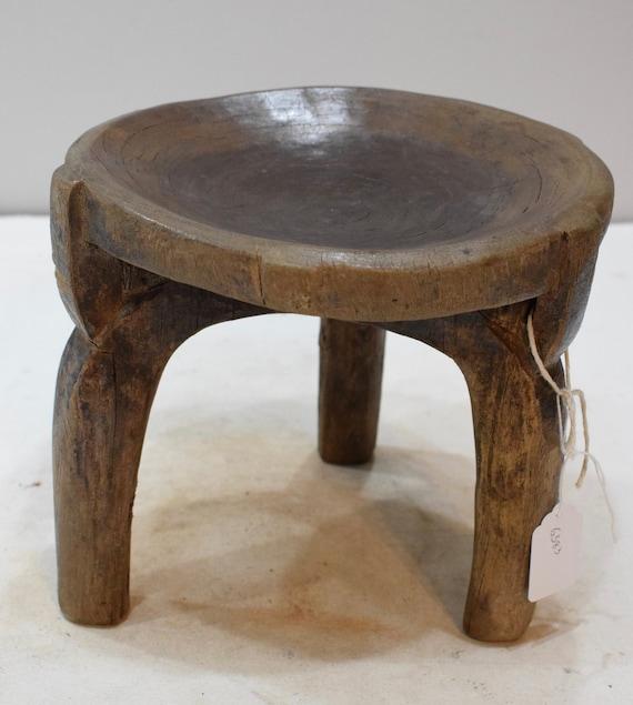 African Wood Stool Gogo Tribe Tanzania Carved Status Prestige Chair Gogo Stool