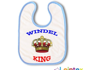 Bib Boy diaper King baby bib Blue No149