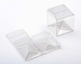 """25 Clear Small Square Boxes 2"""" x 2"""" x 2"""""""