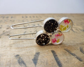 Double tea and floral earrings