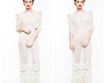 Sold Out Sheer Gatsby in Lace Dress