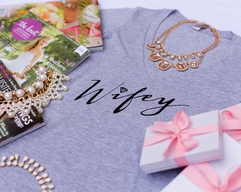 Wifey Tee, Gifts for Wifey, Gifts for Bride to be, Wifey Shirt, Bride Shirt, Bridal Shower Gift, Bachelorette Party