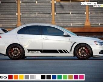 Sticker Decal Stripe Spring For Mitsubishi Lancer Evolution X 10 Racing  Body Low